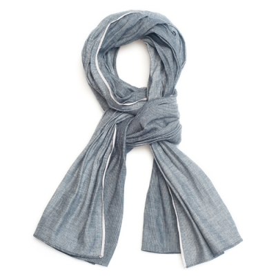 OLD MILL EAST HARBOR X MANNERGRAMLONG SCARF_SULFIDE SELVAGE