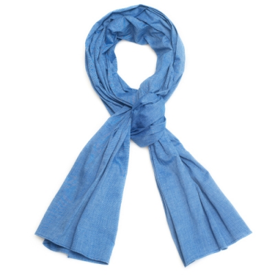 OLD MILL EAST HARBOR X MANNERGRAMLONG SCARF_CHAMBRAY