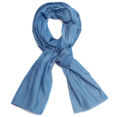 OLD MILL EAST HARBOR X MANNERGRAMLONG SCARF_RE BLUE
