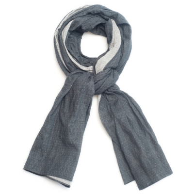 OLD MILL EAST HARBOR X MANNERGRAMLONG SCARF_DOT GRAY