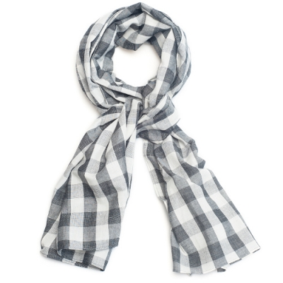 OLD MILL EAST HARBOR X MANNERGRAMLONG SCARF_GC_GRAY