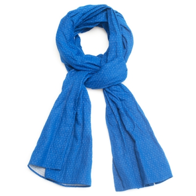OLD MILL EAST HARBOR X MANNERGRAMLONG SCARF_DOT BLUE