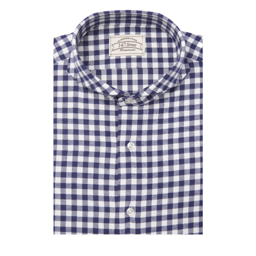 01 GINGHAM CHECK FLANNEL BLUE