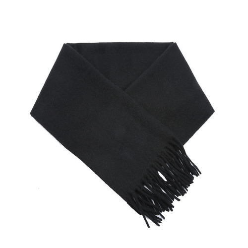 CASHMERE WOOL SCARF BLACK