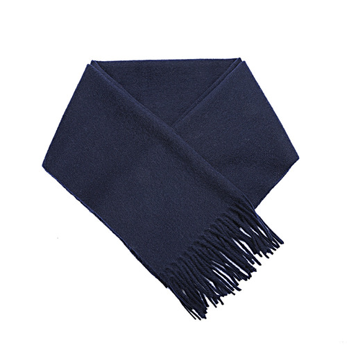 CASHMERE WOOL SCARF NAVY
