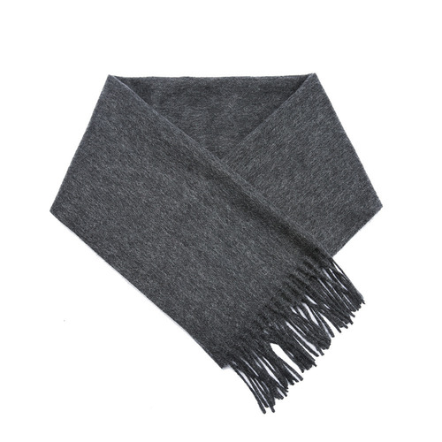 CASHMERE WOOL SCARF GREY