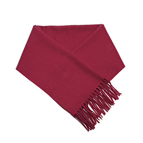 CASHMERE WOOL SCARF WINE